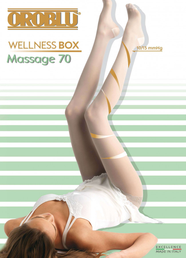 Strumpfhose Massage 70 Wellness Box Oroblu