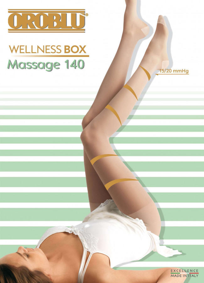 Strumpfhose Massage 140 Wellness Box Oroblu