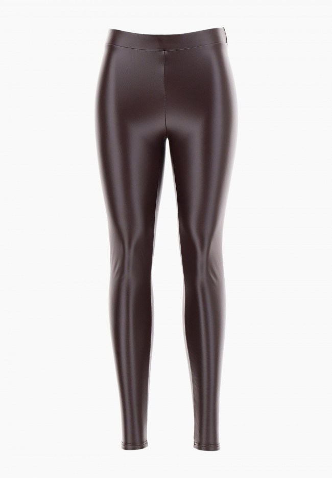 Pull-on Leggings aus Thermo Kunstleder Must