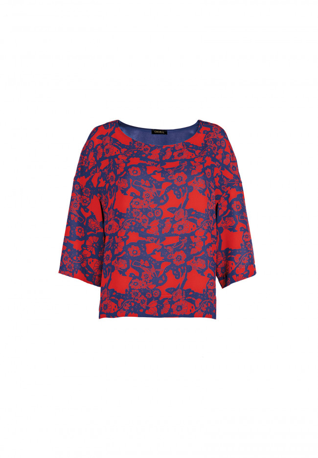 Blusa Stampata Abstract