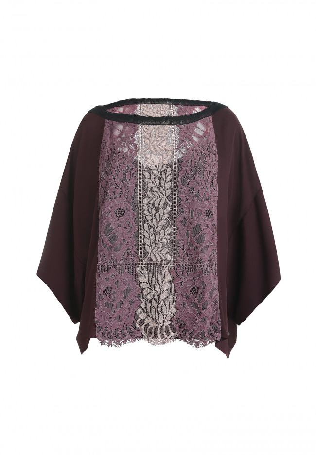Maxi blusa in pizzo SWEET DREAM