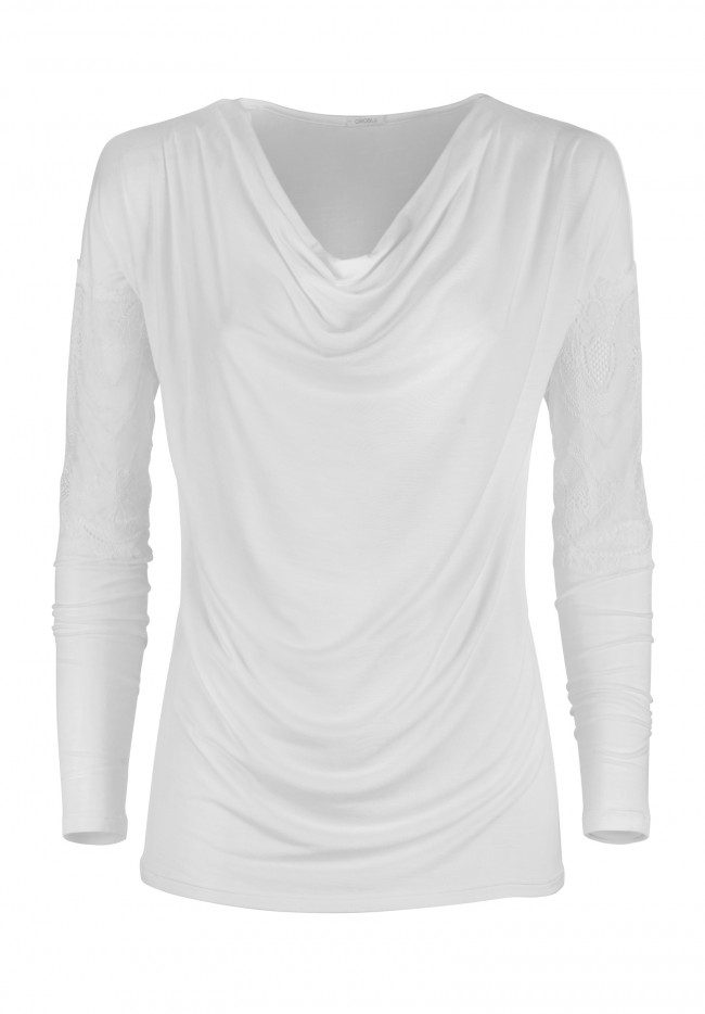 T-shirt con inserti in pizzo DAME