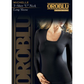 T-Shirt U-Neck Long Sleeve Michelle Oroblu