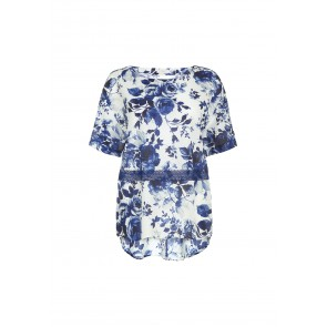 Blusa in cotone e seta Blue Fairy