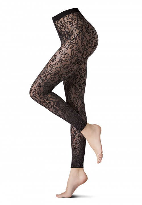 Leggings fantasia argento Ramage