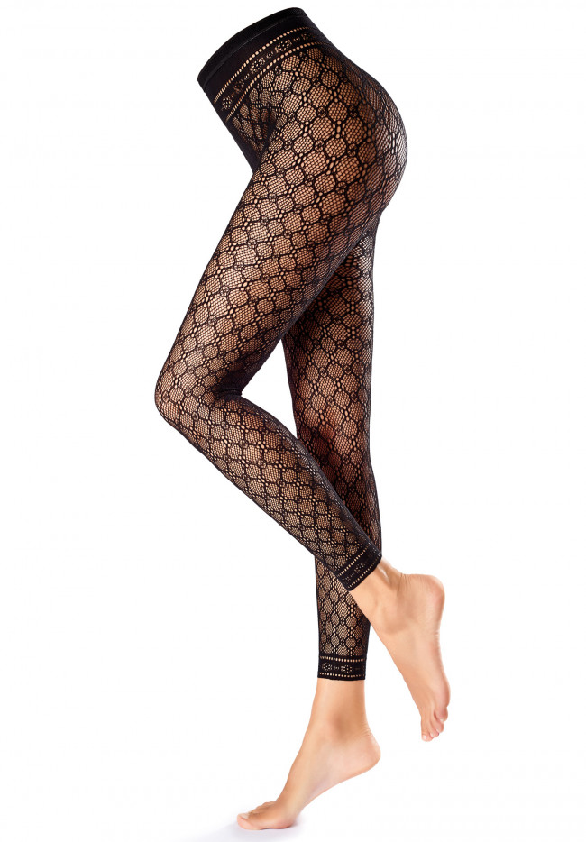 Leggings In Rete Fishnet-Macrame