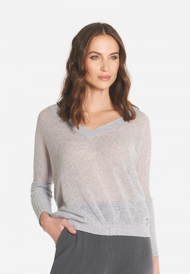Corinne wool and cashmere V-neck sweater