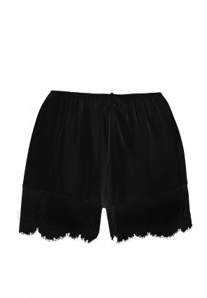 DAME Shorts in silk and lace