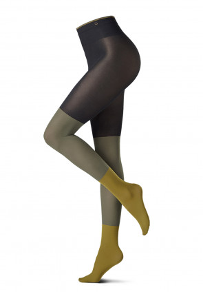 All Colors Blocks opaque tights