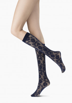 Primrose lace knee-high