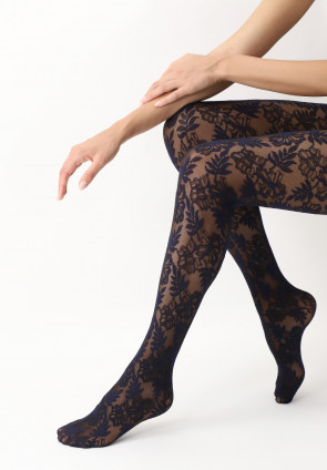 Sheer Lace Effect Floral Lace Tights