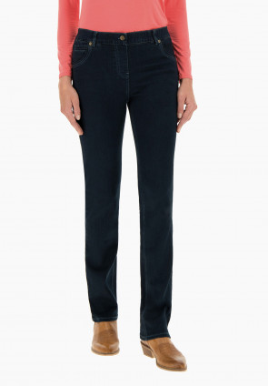 Poppy boot-cut line jeans