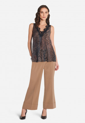 Monet georgette wide top