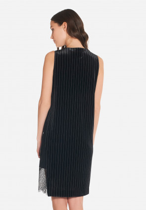Therese pinstripe chenille dress