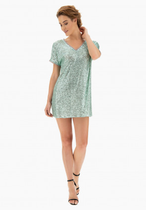 Corey maxi t-shirt in paillettes