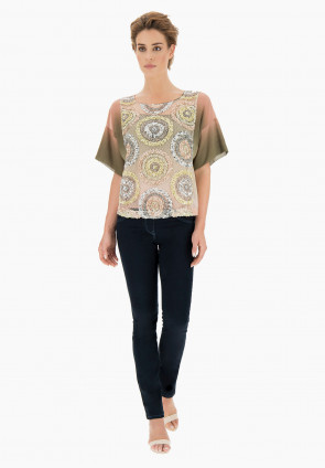 Paradise shaded paillettes Blouse