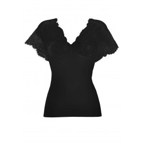 DAME T-shirt with lace kimono sleeves