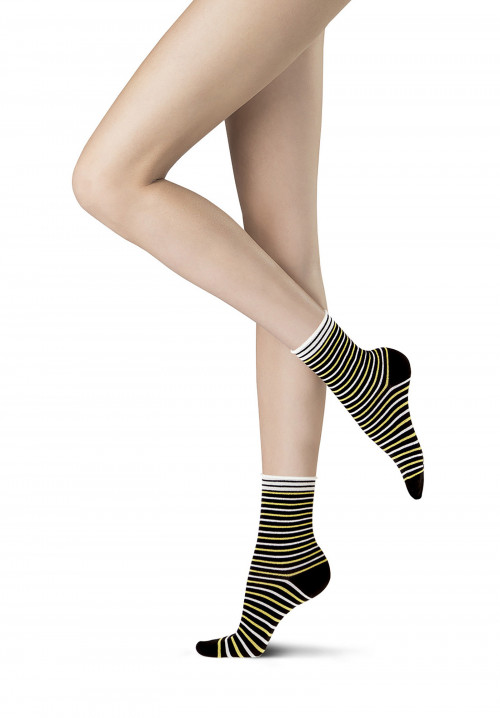 Regular Line lamè striped socks