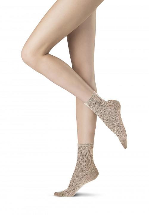 Shining Rib perforated socks