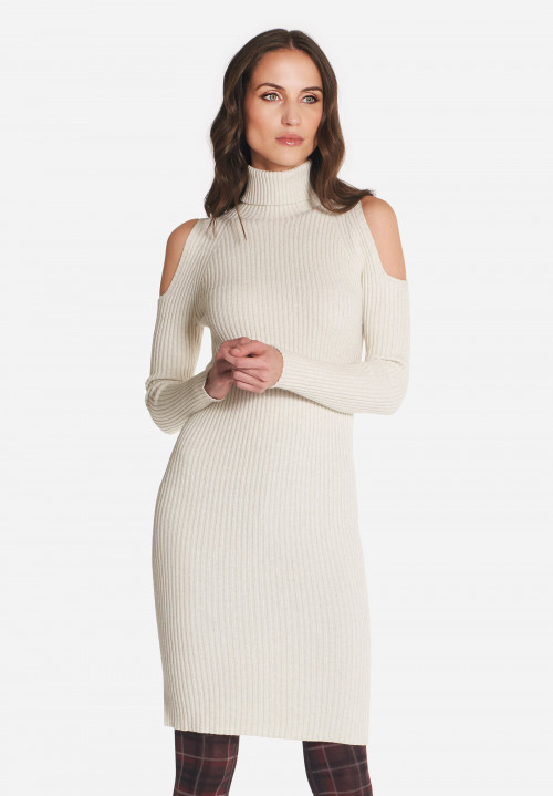 Cezanne wool off-shoulder dress