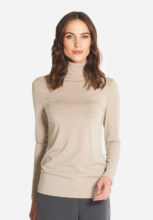 Montmartre micromodal and wool turtleneck
