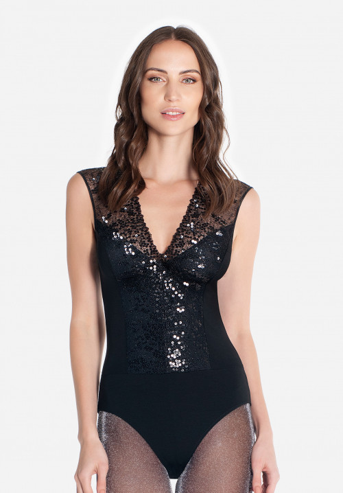 Fitted body with sequins inserts Boheme