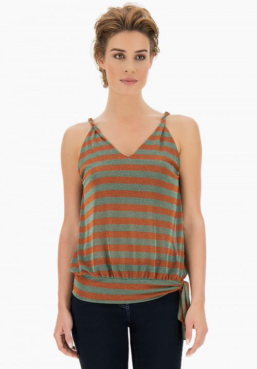 Garden Striped lurex top