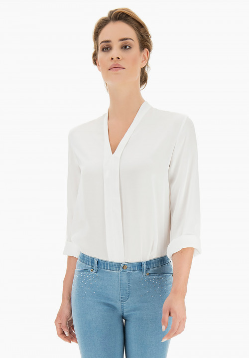 Blimah central fold blouse