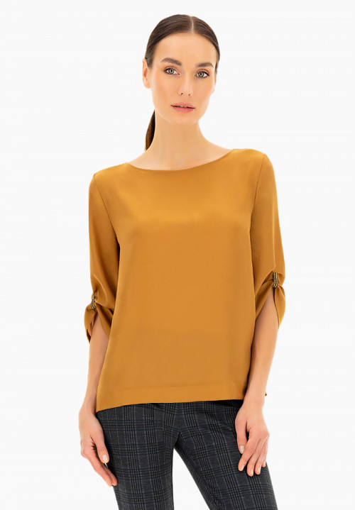 Erica solid colour blouse