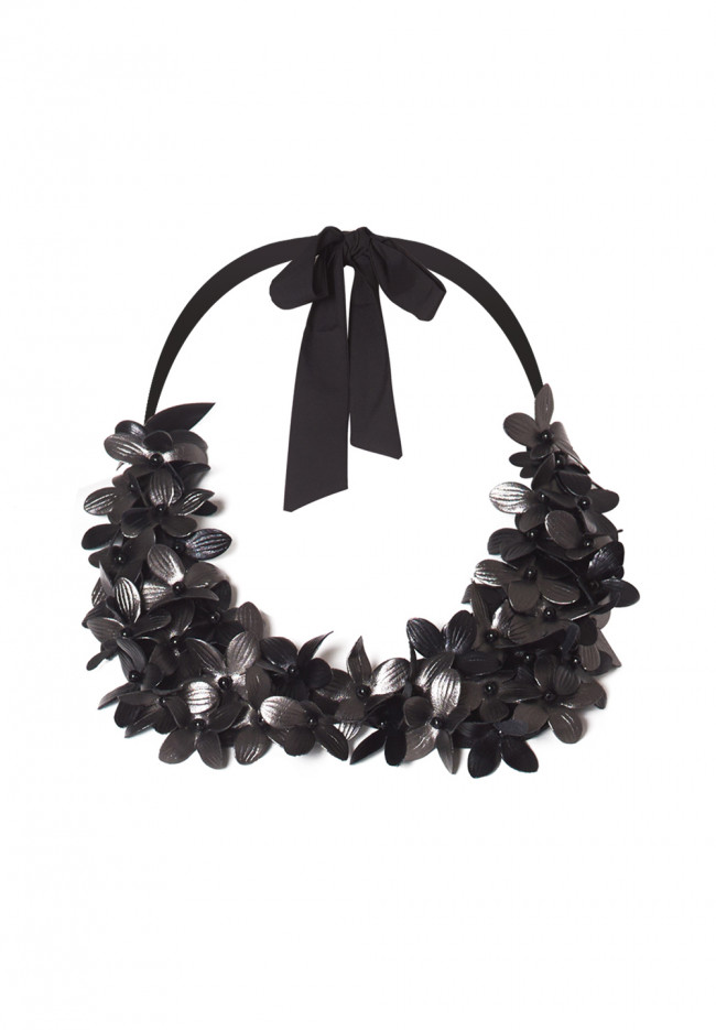 Collare Leather Flowers Precious