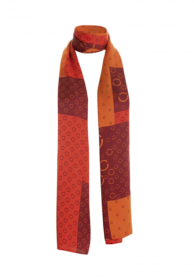 Foulard in raso  SUNSET MAGIC