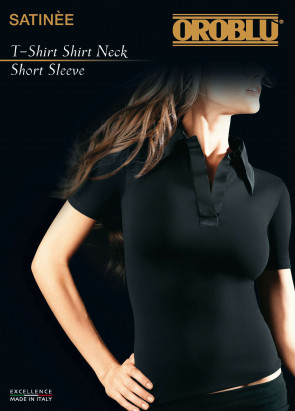 T-Shirt neck short Satinee