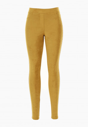 Leggings pull on suede Maonia