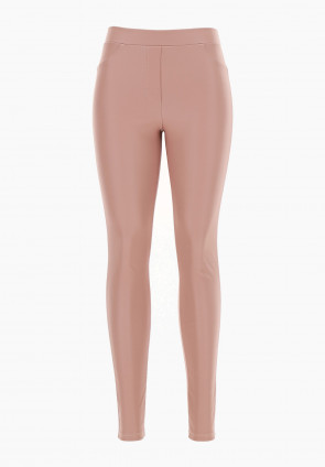 Leggings pull on ecopelle metalizzata Calicanto