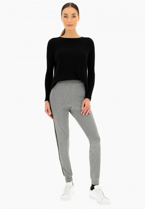 Leggings pull on in felpa Acanto