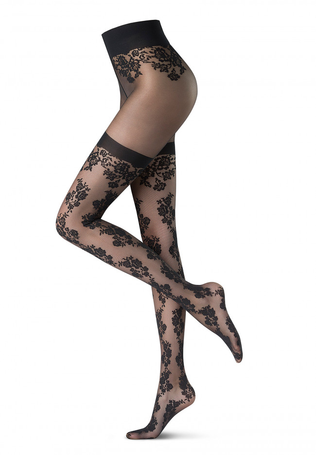 Tights Flower-Gentian Holiday