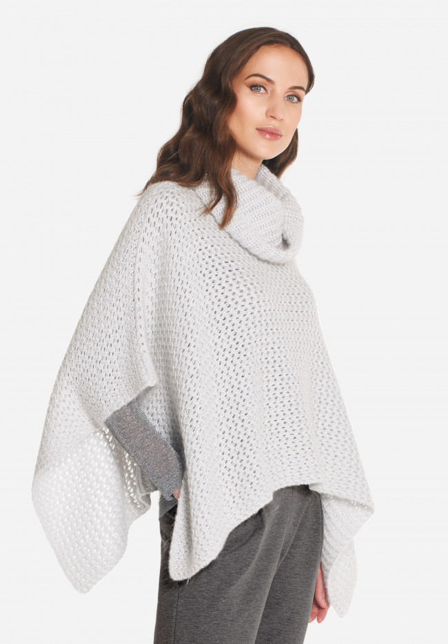 Marcelle mohair and lurex cape
