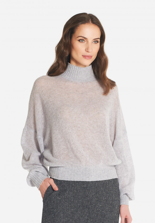 Corinne wool and cashmere high neck sweater