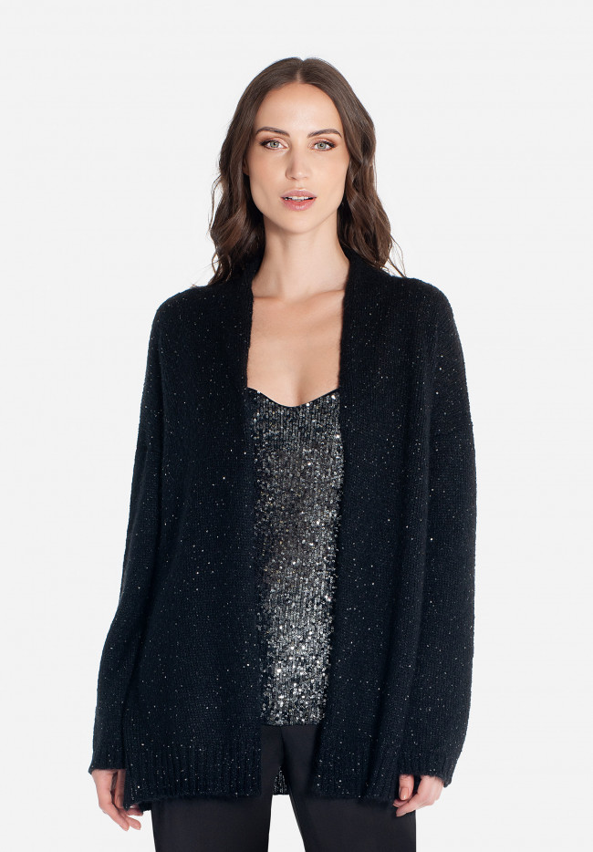 Maxi cardigan with micro sequins Berlin