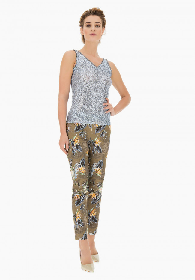 Tropical Jungle patterned Trousers
