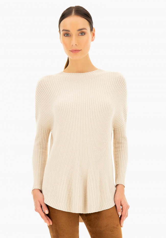 Snowdrop wool and angora sweater