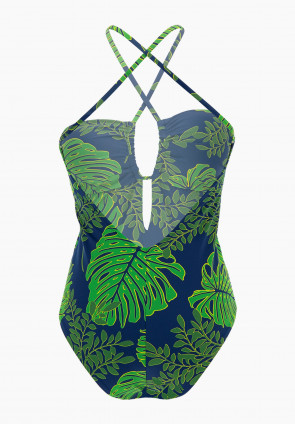 Tropical padded one-piece swimsuit