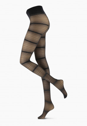 Silver Line patterned tights