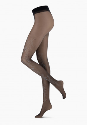 Tropical Tattoo sheer tights