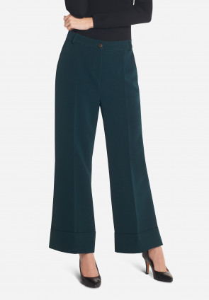 Ertè wide trousers with turn-up