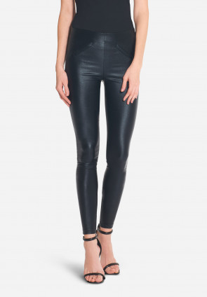 Victoire shiny fabric fitted trousers