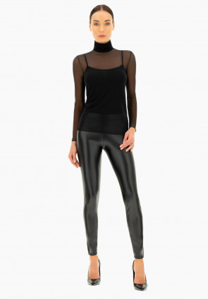 Perfect line tulle turtleneck