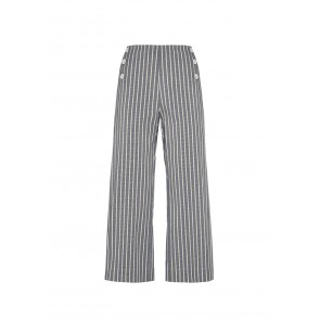 Pantalone svasato a righe Blueberry