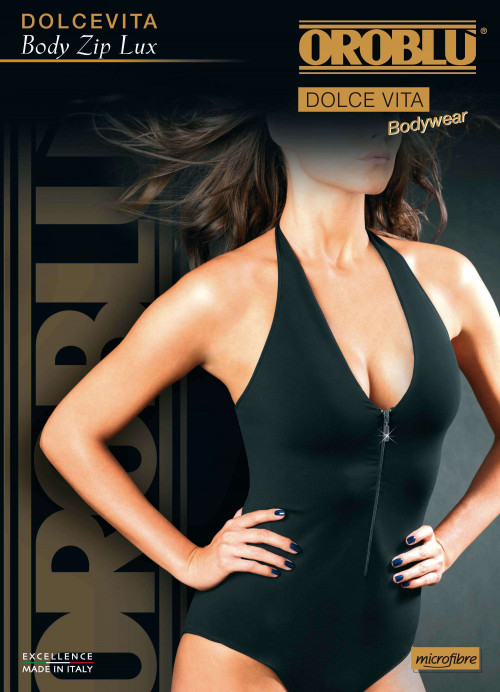 Body Luxe Zip V Neck Dolcevita Oroblu