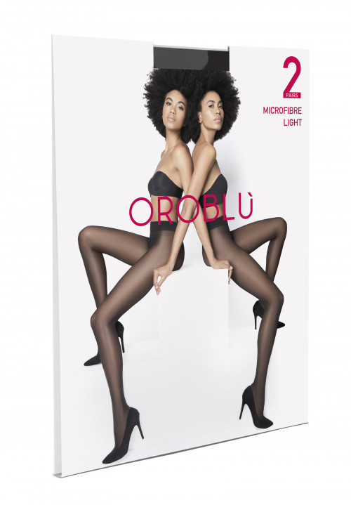 Twins Microfbre Light Tights - 2 Pairs